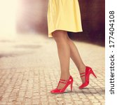 red shoes and yellow skirt  | Shutterstock . vector #177404108