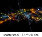 transfer in space. virtual wave ... | Shutterstock . vector #1774041428