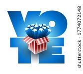 exploding american stars. vote... | Shutterstock .eps vector #1774072148