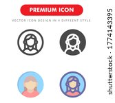 avatar icon pack isolated on...