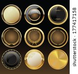 vector badges of gold and black ... | Shutterstock .eps vector #177417158