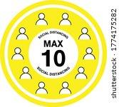 maximum 10 people sign vector ...   Shutterstock .eps vector #1774175282
