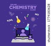 illustration of chemistry...   Shutterstock .eps vector #1774183628