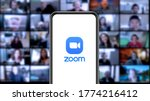 Small photo of Zoom Video, also known as Zoom and Zoom App, is a virtual video call and meeting program, accessible from desktops, laptops, smartphones, and tablets. New York, USA. Saturday July 11, 2020