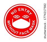 no entry without face mask... | Shutterstock .eps vector #1774217582