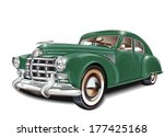 retro car. | Shutterstock .eps vector #177425168