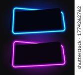 neon geometric banner  glowy... | Shutterstock .eps vector #1774262762