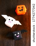 cute origami halloween haunted... | Shutterstock . vector #1774277342