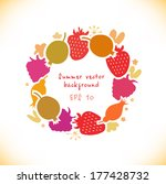 organic round sticker with...   Shutterstock .eps vector #177428732