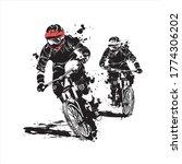 Mountain Bike Downhill Racing...