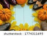 Autumn Shoes Concept. Autumn...