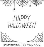 spider web frame border and... | Shutterstock .eps vector #1774327772