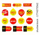 sales label collection. vector... | Shutterstock .eps vector #1774375562