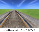 Railway Track Blurred  Green...