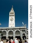 The Ferry Building is a terminal for ferries that travel across the San Francisco Bay and a shopping center located on The Embarcadero in San Francisco - stock photo