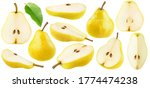 Isolated Yellow Pears...