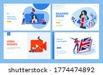 web page design templates of... | Shutterstock .eps vector #1774474892