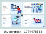 web page design templates of... | Shutterstock .eps vector #1774478585