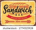 sandwich bar poster design in... | Shutterstock .eps vector #1774525928