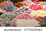 Close Up Of Piles Of Colorful...