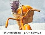 Knitted Straw Basket With...