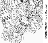 V8 Car Engine Cartoon ...
