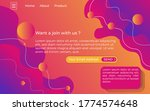 modern abstract gradient color... | Shutterstock .eps vector #1774574648