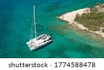 Aerial Drone Photo Of Catamaran ...