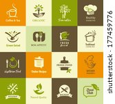 set of icons for organic and... | Shutterstock .eps vector #177459776