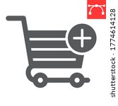 add to shopping cart glyph icon ...