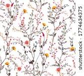 beautiful gentle botanical... | Shutterstock .eps vector #1774634375
