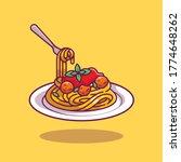 spaghetti cartoon vector icon... | Shutterstock .eps vector #1774648262
