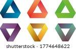 penrose triangle logo design... | Shutterstock . vector #1774648622