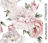 seamless floral pattern with... | Shutterstock . vector #1774652918
