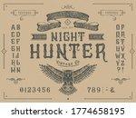 font night hunter. craft retro... | Shutterstock .eps vector #1774658195
