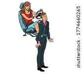 a woman rules a man. the wife... | Shutterstock .eps vector #1774660265