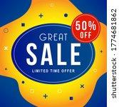 vector illustration of a sale... | Shutterstock .eps vector #1774681862