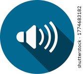speaker volume icon flat design
