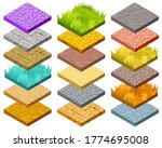 isolated isometric tiles for...