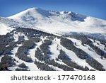 Summit County Ski Slopes. Winter in Breckenridge, Colorado, United States.  - stock photo
