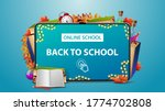 online school  back to school ... | Shutterstock .eps vector #1774702808