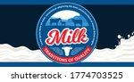 vector milk round label with...   Shutterstock .eps vector #1774703525