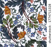 seamless pattern with flowers... | Shutterstock .eps vector #1774711328