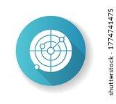 sonar blue flat design long... | Shutterstock .eps vector #1774741475