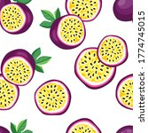 hand drawn vector seamless... | Shutterstock .eps vector #1774745015