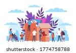 volunteers. team supporting...   Shutterstock .eps vector #1774758788