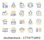 buyer customer line icons.... | Shutterstock .eps vector #1774771892