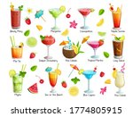 set of tropical cocklails.... | Shutterstock .eps vector #1774805915