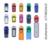 top view of colorful cars flat... | Shutterstock .eps vector #1774832615