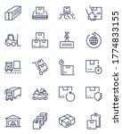 cargo shipping line icon set....   Shutterstock .eps vector #1774833155